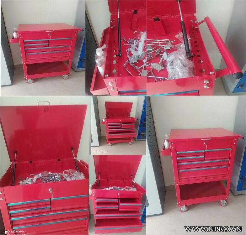 tủ đồ nghề 5 ngăn có nắp và hộc phụ tại hồ chí minh