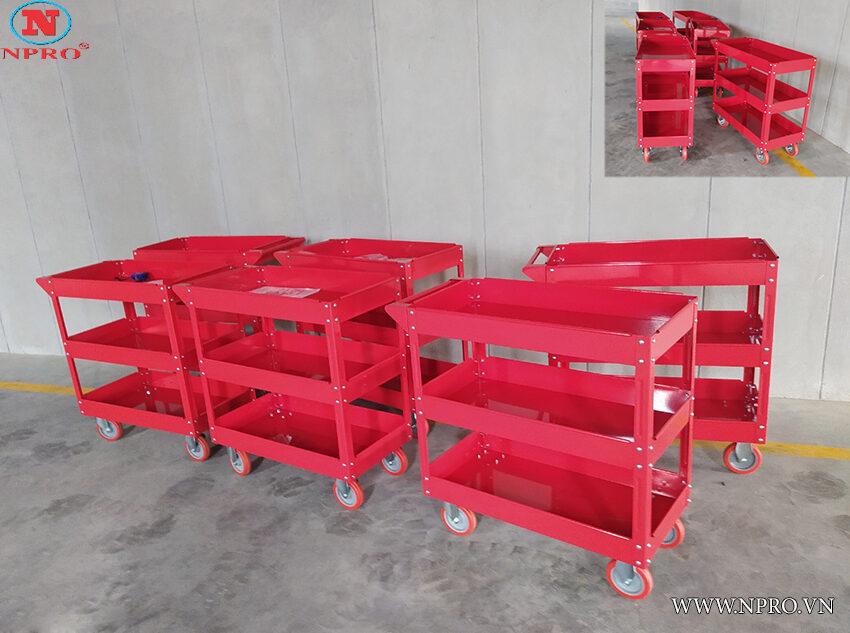 xe đẩy dụng cụ 3 ngăn  giá rẻ - xe đựng đồ nghề