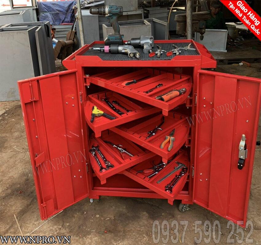 tủ đồ nghề 2 cánh 6 ngăn kéotủ đựng đồ nghề 2 cánh 6 ngăn
