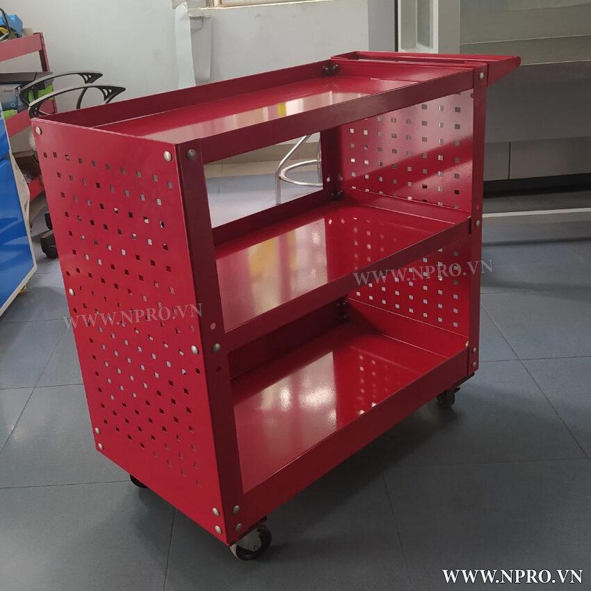 xe đẩy dụng cụ 3 ngăn móc treo đồ nghề