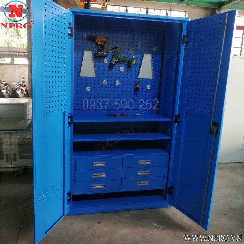 tủ treo dụng cụ 2 cánh 6 ngăn
