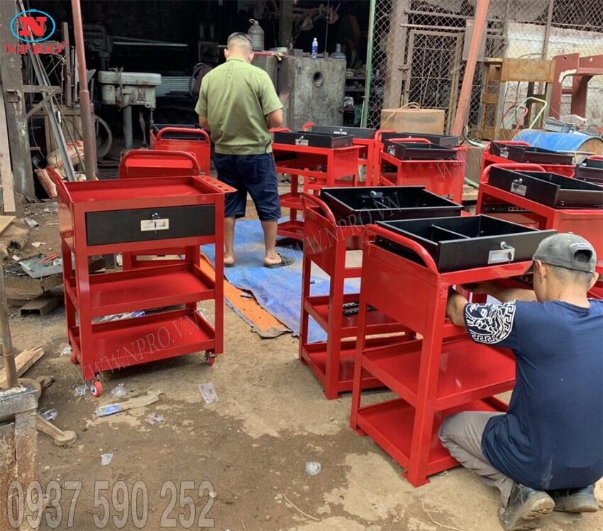 tủ đựng đồ nghề 4 ngăn 1 ngăn kéo
